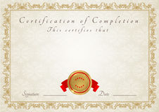 Free Certificate / Diploma Award Template. Pattern Royalty Free Stock Image - 27745356