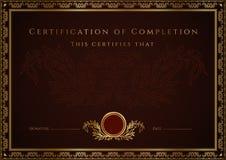 Free Certificate / Diploma Award Template. Pattern Stock Photos - 28206293