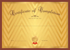 Certificate / Diploma background (template) Stock Photos