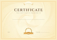 Certificate / Diploma background (template) royalty free illustration