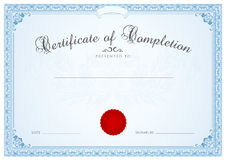 Certificate / Diploma background template. Floral  Royalty Free Stock Photos