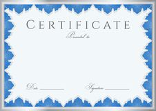 Certificate / Diploma background (template). Frame Stock Image
