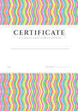 Certificate / Diploma background template. Pattern Royalty Free Stock Image