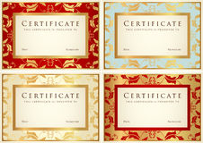 Certificate / Diploma background template. Pattern Stock Image