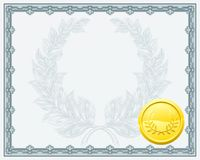 Certificate Diploma Background Template Royalty Free Stock Photo