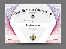Certificate diploma border, Certificate template. Design on whit Royalty Free Stock Image