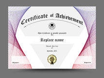 Certificate, Diploma of completion, Certificate of Achievement d Stock Photography