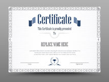 Certificate, Diploma of completion, Certificate of Achievement d Stock Photo