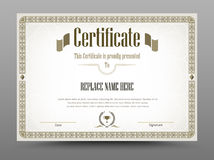 Certificate, Diploma of completion, Certificate of Achievement d Royalty Free Stock Photo