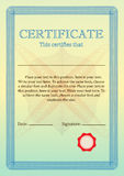 Certificate or Diploma of completion. Certificate of Achievement Stock Photo