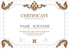 Certificate, Diploma of completion (design template, background) Stock Photography