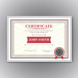 Certificate, Diploma of completion Royalty Free Stock Photo