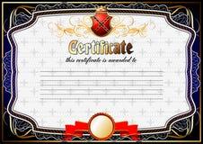Certificate, Diploma template. Award pattern. Royalty Free Stock Image