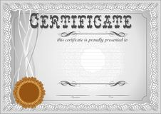 Certificate, Diploma template. Award pattern. stock images