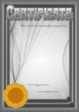 Certificate, Diploma template. Award pattern. stock photos