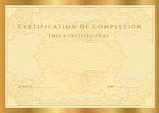 Certificate diploma of completion (template) Stock Photo