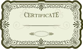 Certificate or diploma design Stock Photography