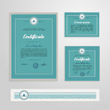 Certificate, Diploma, design template Royalty Free Stock Photos