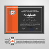 Certificate, Diploma, design template Royalty Free Stock Images