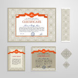 Certificate, Diploma, design template Stock Photography