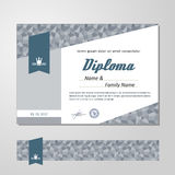 Certificate, Diploma, design template Royalty Free Stock Photo