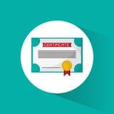 Certificate diploma education icon Stock Photo