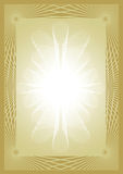Certificate diploma gold background Stock Photos