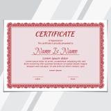 Certificate diploma  Landscape stock illustration
