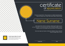 Certificate - Diploma Modern Style Design Royalty Free Stock Photo