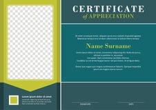 Certificate - Diploma Modern Style Design Stock Photos