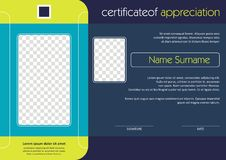 Certificate - Diploma Modern Style Design Royalty Free Stock Image
