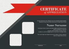 Certificate - Diploma Modern Style Design Stock Photography
