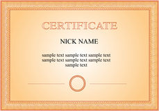 Certificate, diploma for print Stock Photography