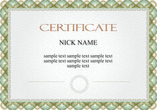 Certificate, diploma for print. Could be used for invitation, certificate or diploma Royalty Free Stock Photos