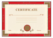 Certificate, diploma for print vector Royalty Free Stock Images