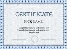 Certificate diploma for print Stock Photos