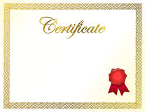 Certificate diploma and ribbon illustration Royalty Free Stock Images