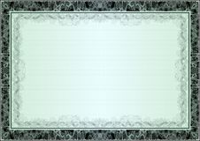 Certificate, Diploma template. Award pattern. Royalty Free Stock Images