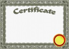 Certificate, Diploma template. Award pattern. Royalty Free Stock Photography