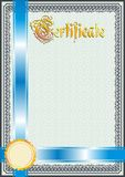 Certificate, Diploma template. Award pattern. Stock Images