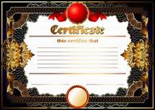 Certificate, Diploma template. Award pattern. Royalty Free Stock Photo