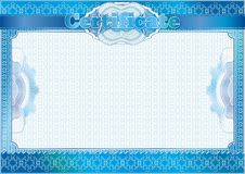 Certificate, Diploma template. Award pattern. Stock Image