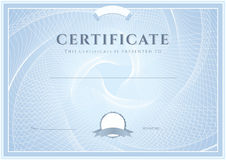 Certificate, Diploma template. Award pattern Stock Photo