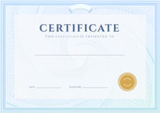 Certificate, Diploma template. Award pattern Stock Photos