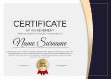 Certificate and diploma template background. Vector illustratio
