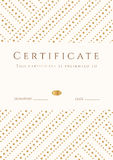 Certificate, Diploma template. Gold award pattern Royalty Free Stock Image