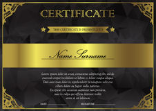 Certificate and diploma template Royalty Free Stock Photo