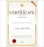 Certificate or Diploma template. Isolated on white background Royalty Free Stock Photo