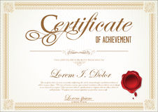 Certificate or Diploma template. Isolated on white background Royalty Free Stock Photos