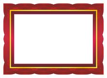 Diploma Frame. Certificate or diploma template with red and gold color, suitable for invitation, card, awward, thanks card, background, and other royalty free illustration